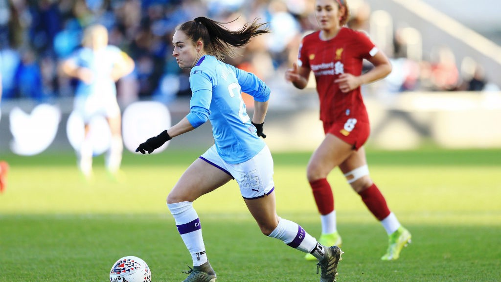 STAND OUT: Tessa Wullaert caused Liverpool plenty of problems in their defensive third.