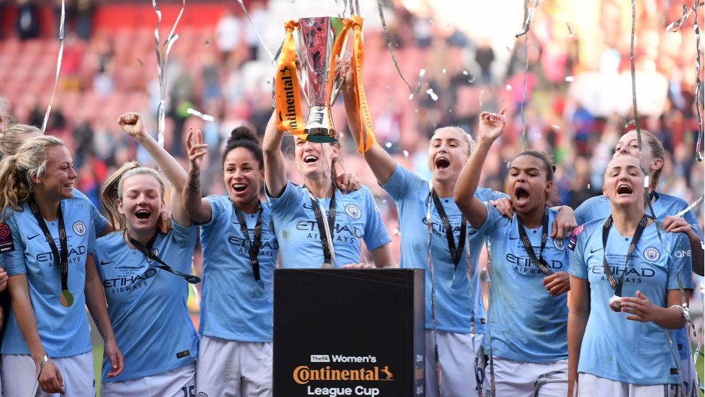 UP FOR THE CUP: The joyous City squad lift the Continental Cup