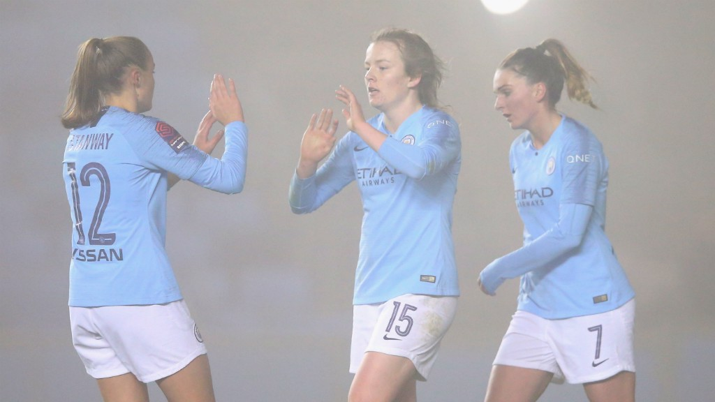 _Lauren Hemp bagged her second and third City goals against Brighton