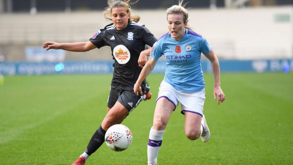 FORWARD MARCH: Lauren Hemp takes the fight to Birmingham