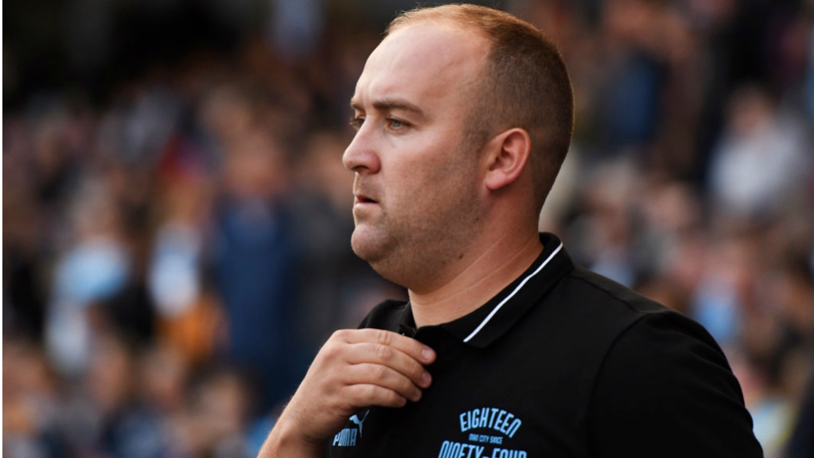 THE BOSS: MCWFC manager Nick Cushing looks on from the sidelines