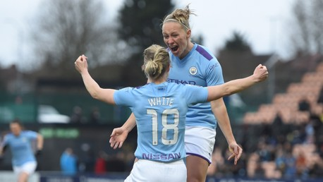 DOUBLE DELIGHT: Quickfire goals from Pauline Bremer and Ellen White handed City a dream start at Tottenham