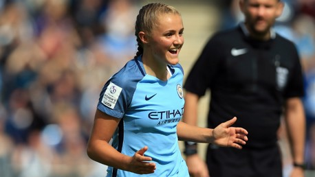 HAT-TRICK: Georgia Stanway is becoming a first-team star... at 17!