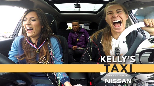 HYSTERICS: Karen Bardsley and Nikita Parris had CityTV presenter Kelly O'Donnell in stitches