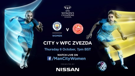 TUNE IN: MCWFC v Zvezda is live on Facebook.