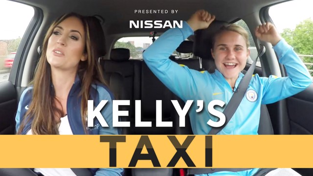 CARPOOL: FA WSL champion Izzy Christiansen joined Kelly O'Donnell on the journey to work.