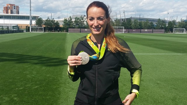 SILVER STAR: Kosovare Asllani claimed a silver medal at the 2016 Olympics in Rio
