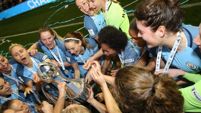 CHAMPIONS: Man City Women secured the double in 2016