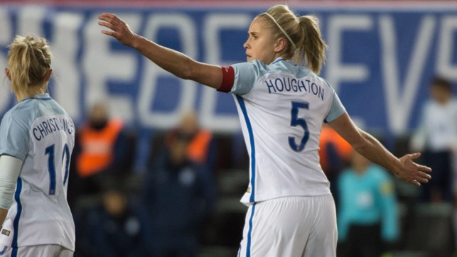 SKIPPER: Steph Houghton will be hoping to lead England to glory in Holland.