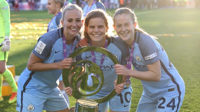 MORE SILVER: Two trophies in a week, as City claimed their second Continental Tyres Cup triumph