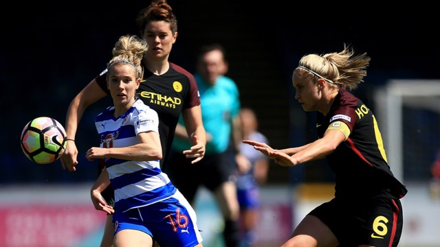 BATTLE: Man City Women edged a five-goal thriller at Reading