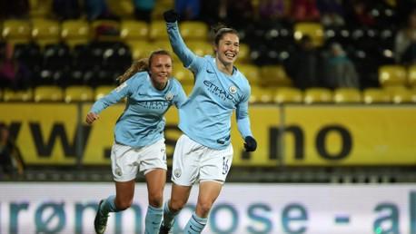 JANE JOY: Jane Ross bagged two goals in the 5-0 triumph at LSK Kvinner