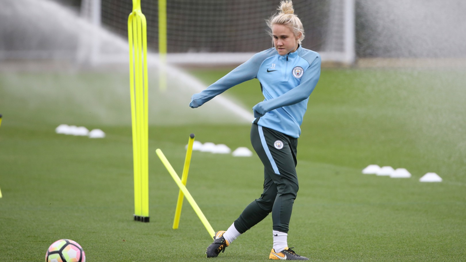 LET'S GET BUSY: Izzy Christiansen insists City must be fully focused against Birmingham