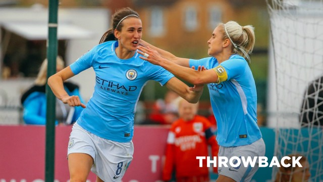THROWBACK: Jill Scott bagged the opener in a rout against Bristol City back in May 2018...