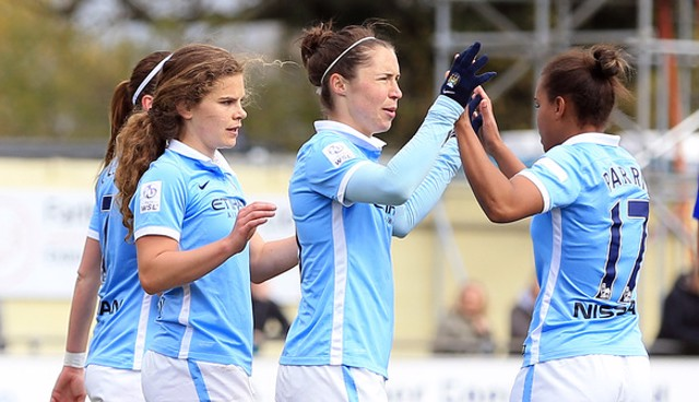 DOUBLE TROUBLE: Daphne Corboz and Jane Ross were on the scoresheet the last time we faced Birmingham
