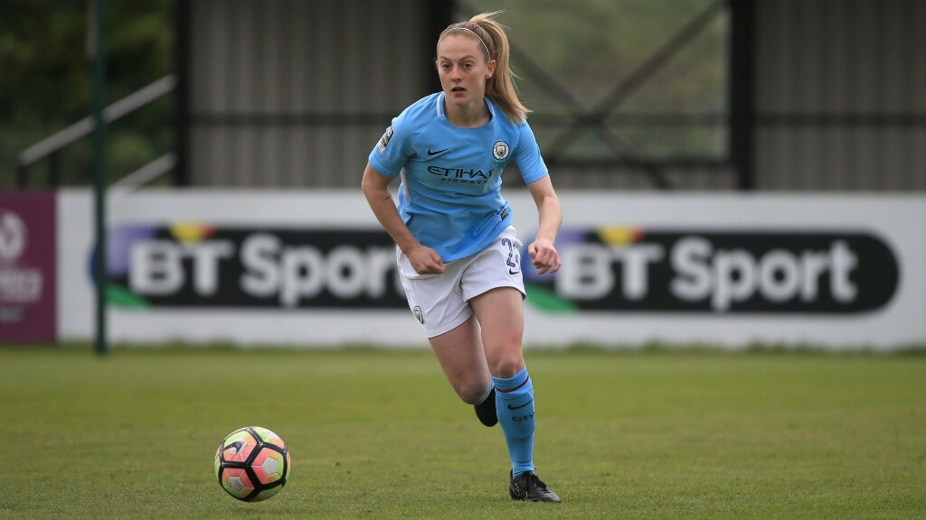 SIDELINED: In City's 3-0 win over Liverpool on Sunday, Keira Walsh sustained a minor injury to her right knee.