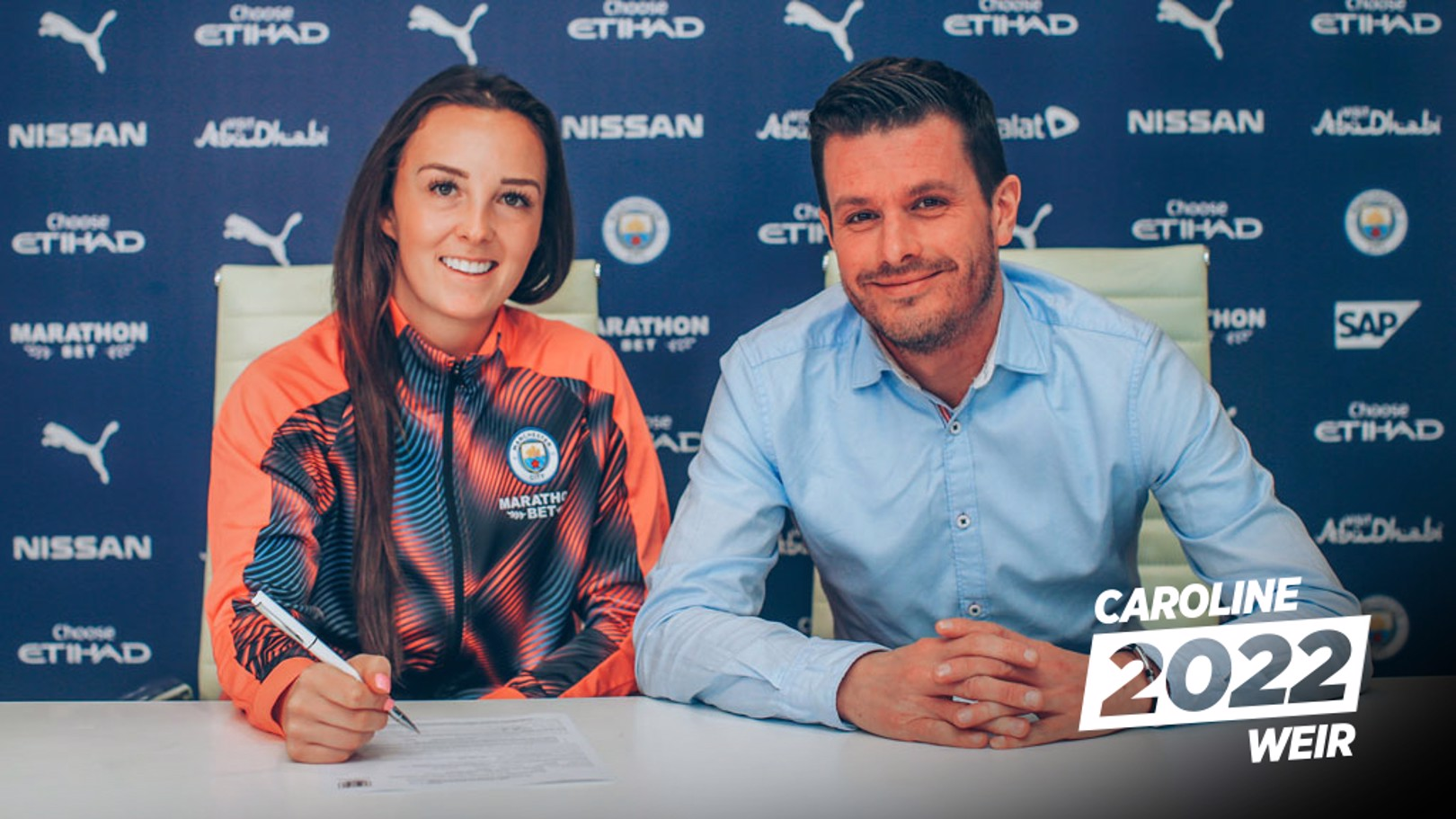 WONDERWEIR: Caroline Weir puts pen to paper on a new contract