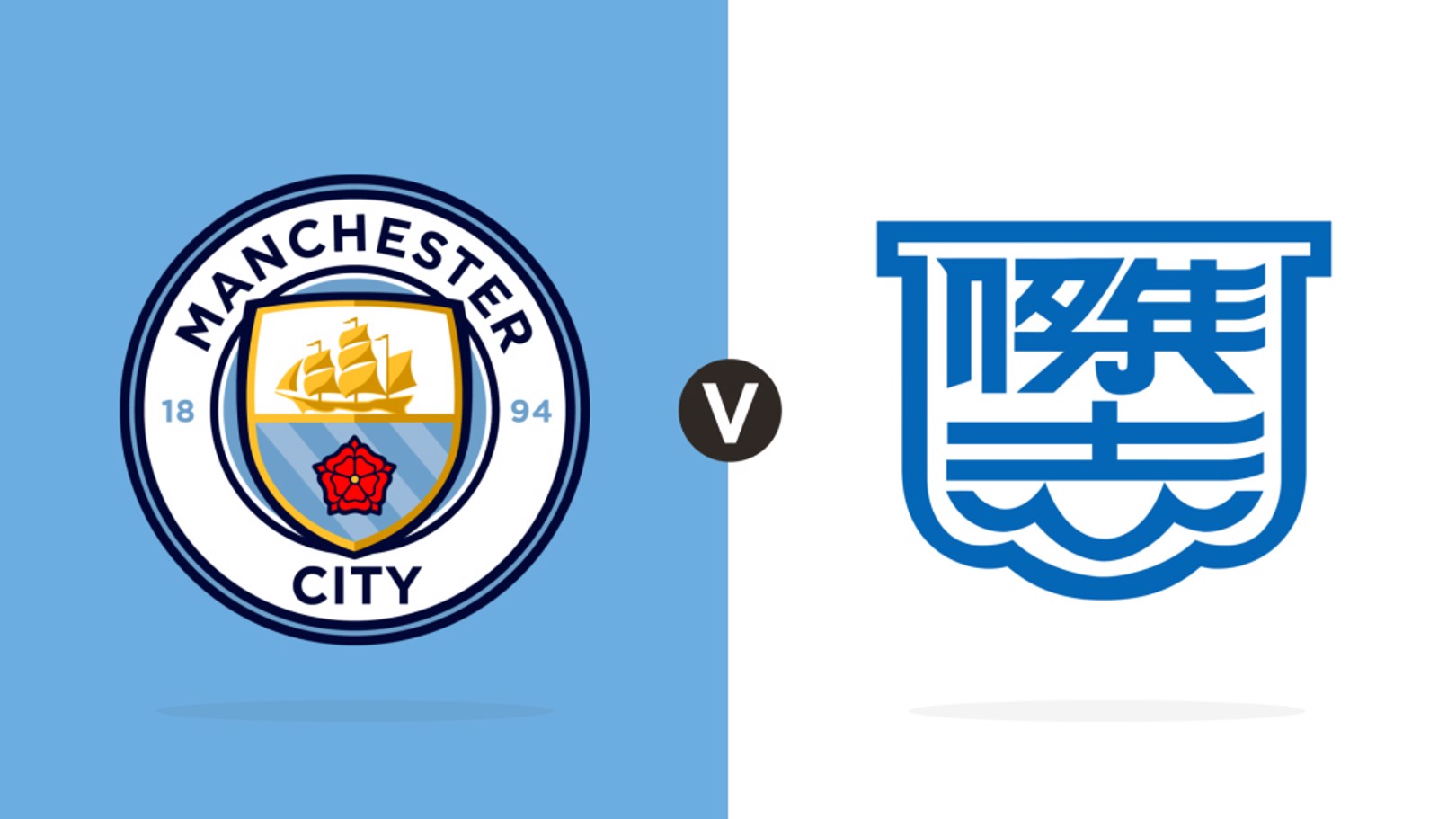 City crest v Kitchee crest