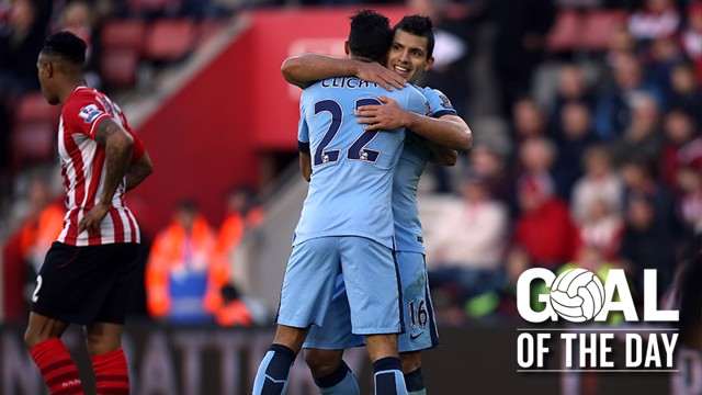 COUNTER STRIKE: Clichy finds the net after a beautiful break