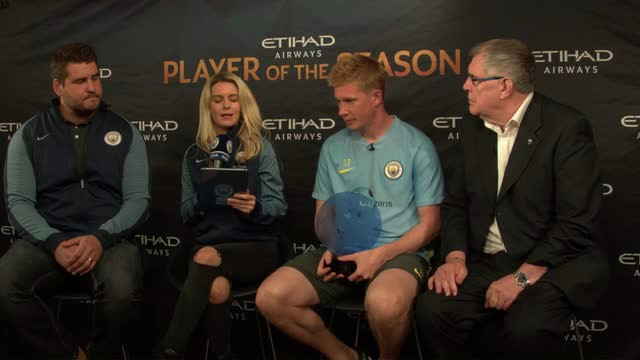 PRIZE GUY: Kevin De Bruyne was named Etihad Player of the Season for 2015/16