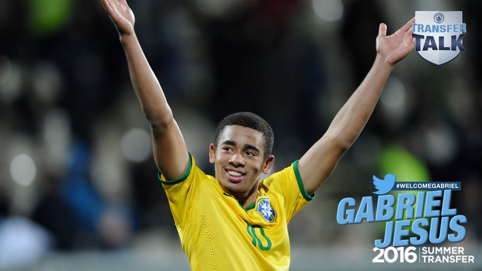 BOY FROM BRAZIL: Gabriel becomes our sixth summer signing