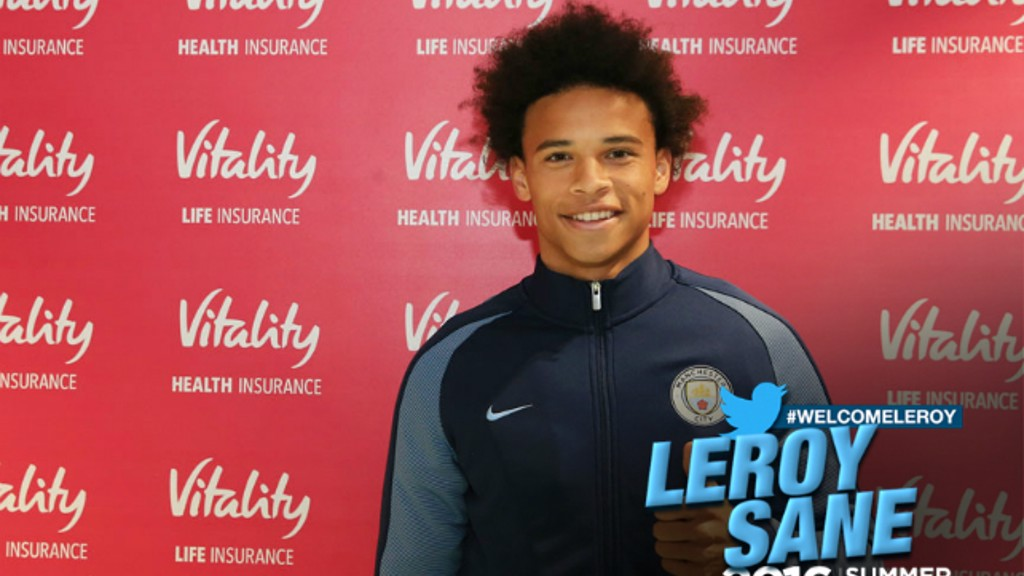 Leroy signs for City!