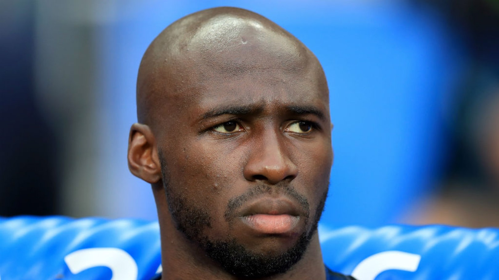 MANGALA: The French defender looks on from the bench during the Euro 2016 final