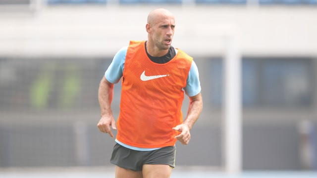 SCREAMER: Zabaleta golazo lights up training