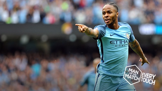 EVERY TOUCH: Sterling against West Ham