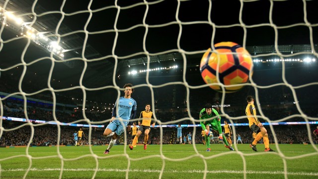 IN SANE! Leroy nets his first City goal