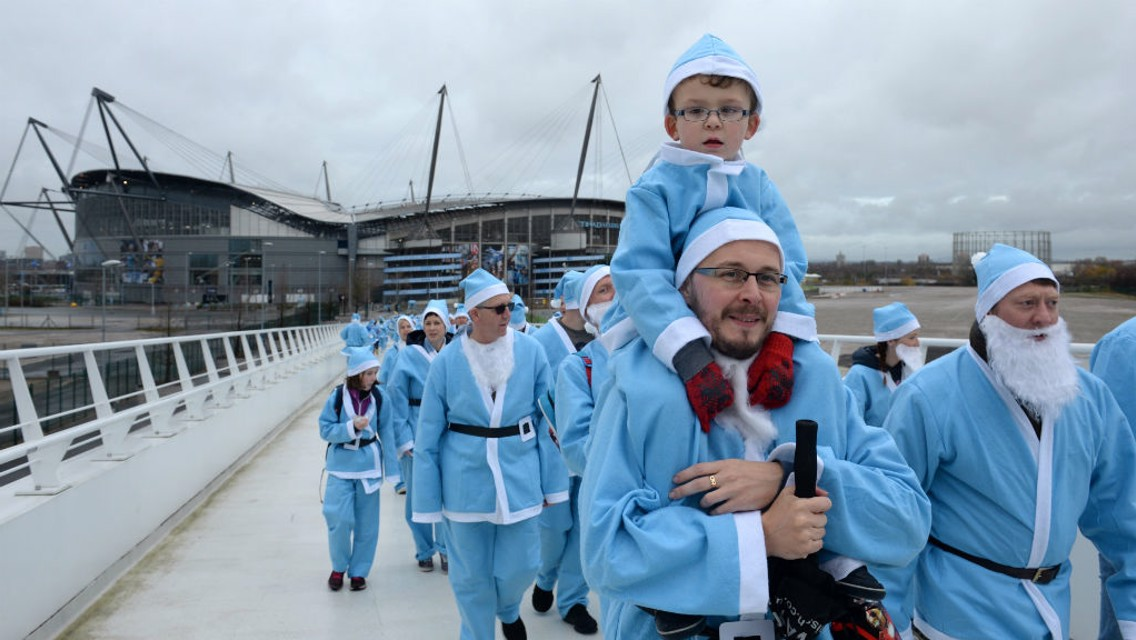 BLUE CHRISTMAS: City fans enjoy last year's Santa Stroll