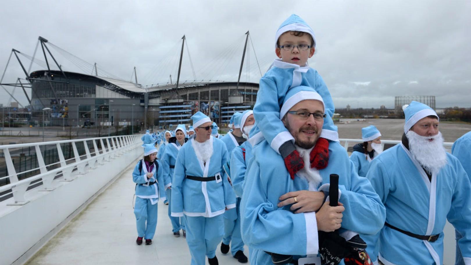 BLUE CHRISTMAS: City fans enjoy last year's Santa Stroll