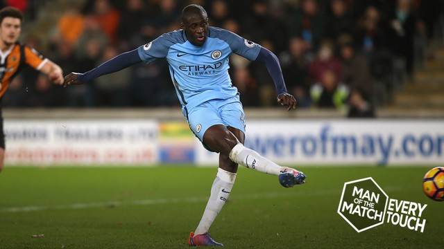 EVERY TOUH: Yaya Toure v Hull City