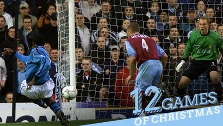 MARC VIVIEN FOE: City's Cameroonian midfielder scored an excellent brace against Aston Villa in 2002