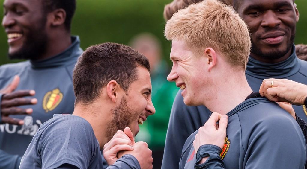 BELGIAN PRIDE: International team-mates