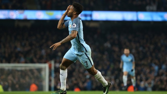 RAHEEM: Sterling work by the England winger