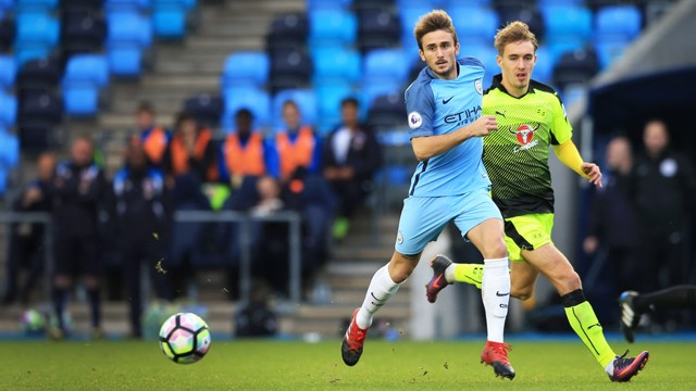 GARCIA: City's sitting midfielder ran the match from his central position