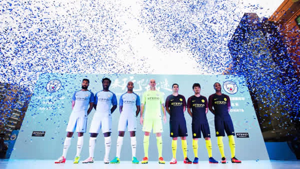 KIT LAUNCH: Scenes at the City Football Festival in Beijing