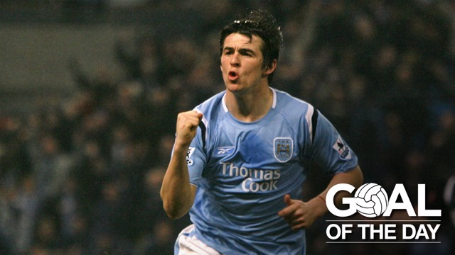 A BEAUTY FROM BARTON: The midfielder tried his luck from distance and it paid off