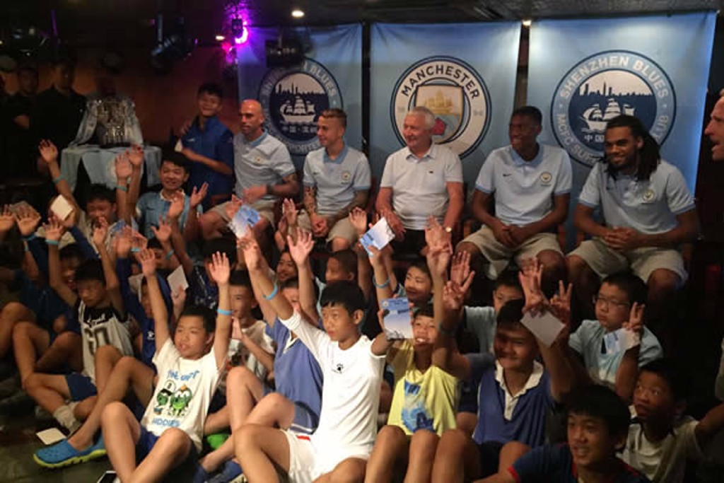 SHENZHEN BLUES: Caballero meets the fans in China