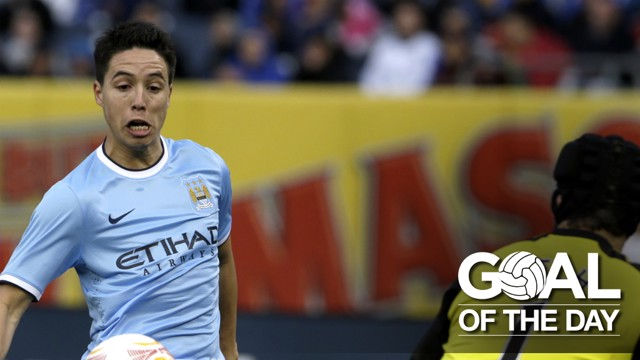 SAM THE MAN: Nasri scores