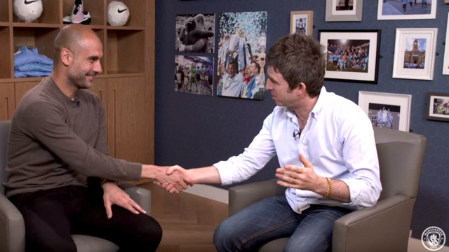 WHEN PEP MET NOEL: City's new manager meets Noel Gallagher