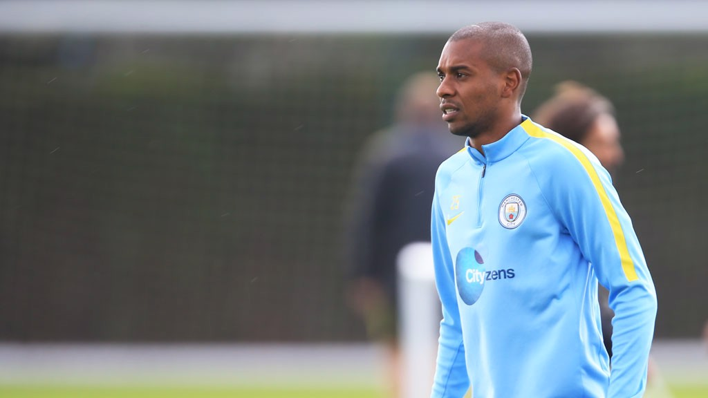 HARD AT WORK: Fernandinho puts the hard yards in... as usual!