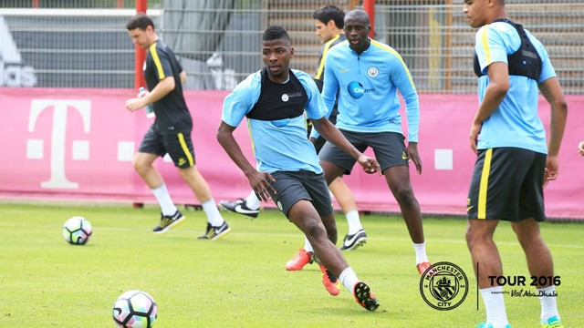 MY BALL: Kelechi eyes the ball