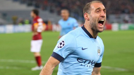 PASSION: Zabaleta has given his all for City during his time in Manchester