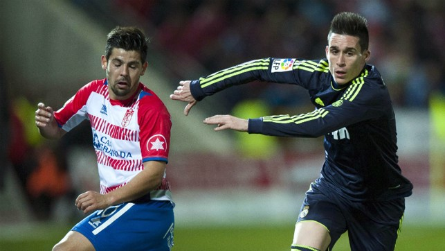 Loan ranger: He was loaned to Granada for six months during the 2012/13 campaign.
