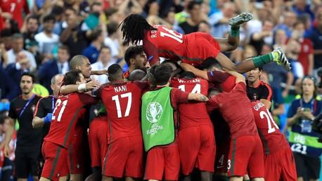 WINNERS! Portugal celebrate