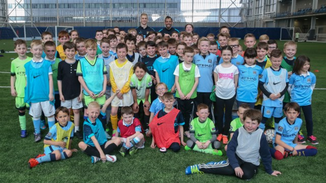 HEROES WELCOME: Junior Cityzens enjoyed access all areas at CFA