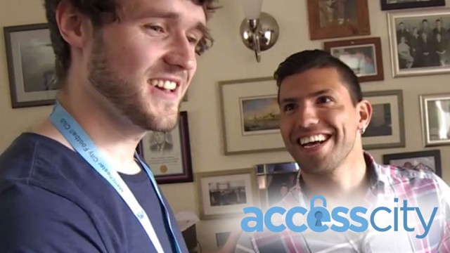 WHAT A MOMENT! Sergio Aguero brought news of Lee Kenny's new job