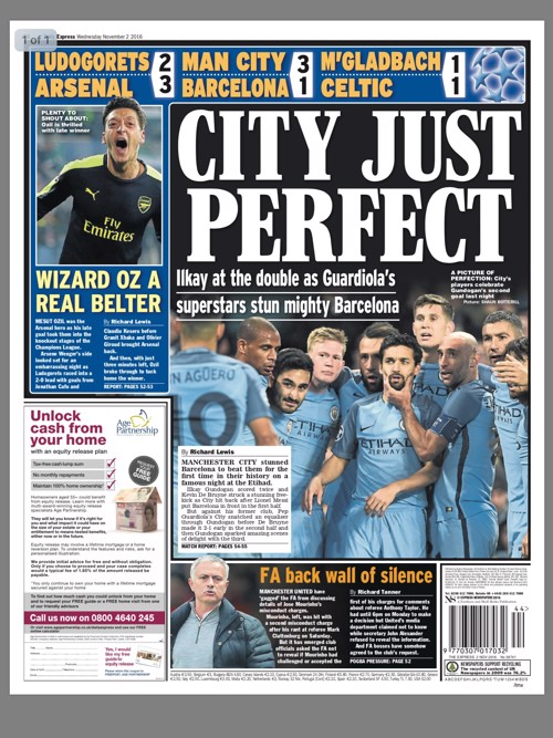 CITY JUST PERFECT: The Express